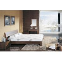 Cheap Walnut wooden Adult Single Bedroom Furniture Leather headboard Bed with Home for sale