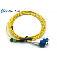 China SM OM3 8 MPO Fiber Optic Cable MPO 4xDuplex LC MPO Fanout Cable Assemblies on sale