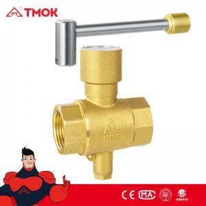 China 1 inch Temperature Test Hammer Lockable Threaded Brass Ball Valve on sale