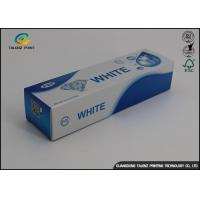 Quality Custom Toothpaste Packing Paper Box Glossy Lamination 0.2 - 0.6mm Thickness wholesale