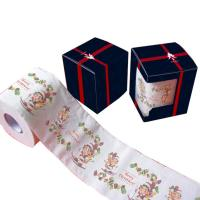 Quality printed toilet tissue 2ply 250 sheets 100% virgin pulp printed toilet paper china factory wholesale