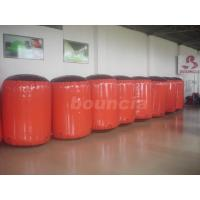 Quality Red Inflatable Cylinder Paintball Bunker Used On The Inflatable Bunkers wholesale