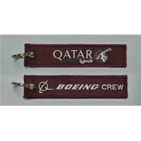 Buy cheap Boeing Crew Qatar Personalized Promotional Embroidery Keychain Key Tags Fobs from wholesalers