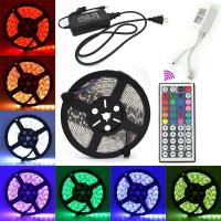 Quality 5050 RGB Colored LED Light Strips With Remote , LED Tape Strip Lights wholesale