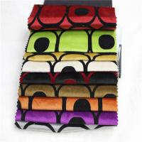 China 100% Polyester printed flocked sofa fabric on sale