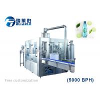 China Rotary PET Bottle Carbonated Soda Water Bottling Machine For Small Business on sale