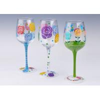 Wholesale Custom High Quality Hand Painting Red Wine Glass Cup