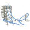 Adventure magic loop fiberglass water slides for outdoor water park games