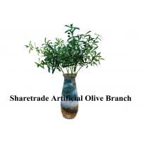 Quality Green Fake Tree Branches With Leaves Artificial Olive Branch Indoor Decor wholesale
