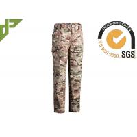 Multicamo Military Combat Trousers With Cargo Pockets Quick Dry Scratch Resistant