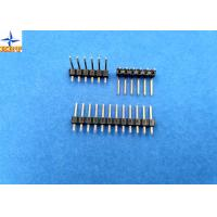 Quality 2.54mm pitch single row pin header vertical male connector for female crimp connectors wholesale