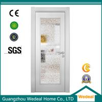 Quality Factory Supply White Wood Interior Panel Doors with Glass Panel wholesale
