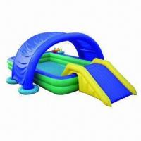Quality Inflatable Castle Pool with Slide, Made of PVC Material, OEM Orders are Welcome wholesale