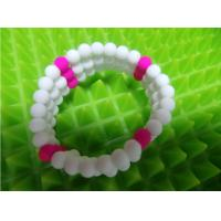 China Holiday Decoration & Gift Sports Silicone Bracelets , Soft Silicone Rubber DIY on sale