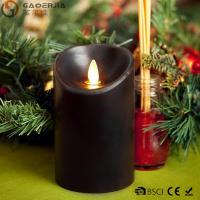 Quality Multi - Colored Led Black Pillar Candles with Real Flame for Home Decor wholesale
