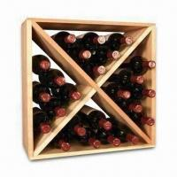 Quality 24-bottles Wall Mount Wine Rack, Measuring 20 x 20 x 9-1/4 Inches, Made of Pine wholesale