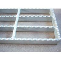 Quality 40 X 5 Serrated Bar Grating , Metal Building Hot Dipped Galvanised Steel Grate wholesale
