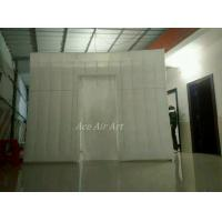 Cheap 3m x3m x2.4m white lighting square style inflatable photobooth with 1 door for sale