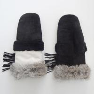 China Wholesale customized cheap mitten winter leather gloves women sheepskin on sale