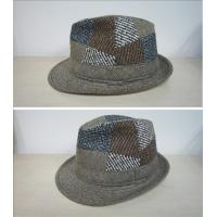 China Polyester / Wool Blend, T/C Lining Inside Fashion Baker Boy Cap With Fedora Shape for Men on sale