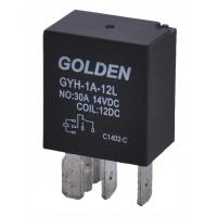Quality Golden Small Magnetic Latching Relay 12V GYF2 SARL HFV4 40A / 20A wholesale
