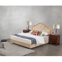 Cheap Leather / Fabric Upholstered Headboard Bed for Hotel Bedroom interior Furniture for sale