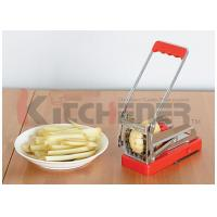 "Quality Solid Aluminum Alloy French Fries Cutter Durable Anti Corrosion With 3 / 8"" Cutting Blades wholesale"