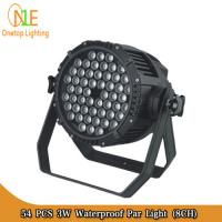 Cheap Wholesale dJ equipment led lamp 3w 54pcs waterproof led par light for sale