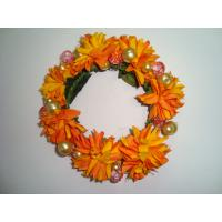 Quality Orange   Silk Artificial Ddecorative Flowers Garlands for Wall Mounted Decorations   wholesale