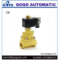China 0.5 - 16 bar Brass 2 Way Steam Solenoid Valves Normally Open High Temperature on sale