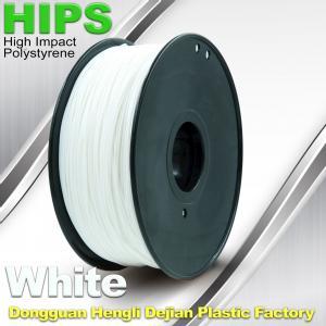 Cheap Custom White HIPS 3D Printer Filament 1.75mm / 3mm , Reusable 3D Printing for sale