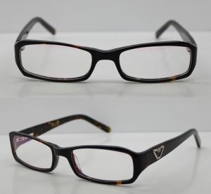 Quality Rectangular Acetate Optical Eyewear Frames, Black Retro Mens Eyeglasses Frames wholesale