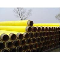 China Yellow Jacket Thermal Insulation PU Foamed Insulated Steel Pipe For Water / Petroleum Pipeline on sale