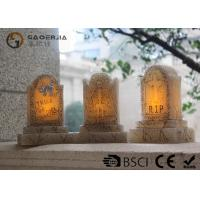 Quality Tombstone Shaped Halloween Led Candles With Color Changing Function wholesale