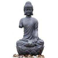 Quality Large Zen Inspired Asian Buddha Water Fountain Water Features For Garden wholesale