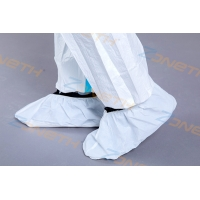China Disposable Kids PP PE PVC Medical Non Slip Shoe Covers on sale