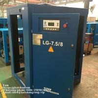 Buy cheap Oil Injected 45kw 8bar Belt Driven Rotary Screw Air Compressor For Bottle Blower from wholesalers