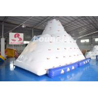 Quality Inflatable Water Climber / Inflatable Iceberg With Big Stainless Steel Anchor Ring wholesale