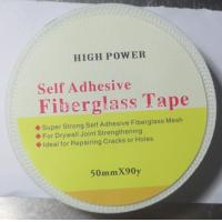 China 50mmx90m strong self adhesive Drywall Fibre Glass Joint Tape for reinforcing wall on sale