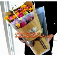 Quality Customized PP plastic transparent flower carry bags with hanging,Eco-friendly Recyclable flower bag transparent pp bag f wholesale