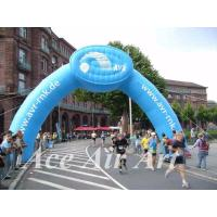 Buy cheap custom new design aublasbarer runder torbogen inflatable with logo for advertising in sport event from wholesalers