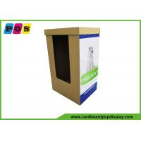 Easy Assembly Dump Bin Display , Corrugated Retail Display Bins For Dog Beds / Dog Mats DB025