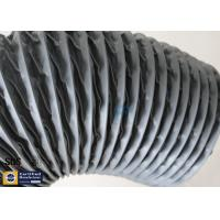 Quality PVC Coated Fiberglass Fabric Grey Flexible Ventilation Air Ducting Vent Hose wholesale