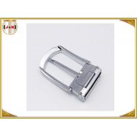 Quality Various Colors Noble Metal Belt Buckle , Solid Silver Color Belt Buckle wholesale