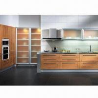 Cheap Baking Varnish Kitchen Cabinet with Melamine-faced Moisture-resistant Particleboard for sale