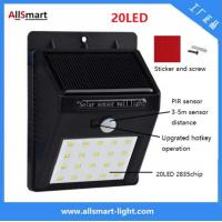 Quality IP65 PIR Solar Lights Motion Sensor 20LED 300lumens 4W Solar Garden Wall Light for Landscaping and Illumination wholesale