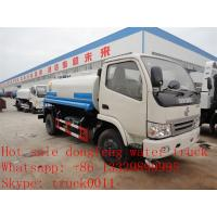 Quality cheapesr price Dongfeng XBW LHD 4*2 5,000L water tank for sale, Factory sale good price dongfeng 5m3  cistern truck wholesale