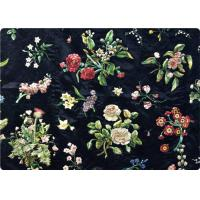 Quality Black Embroidered Curtain / Bags / Bedding Fabric Vintage Upholstery Fabric wholesale