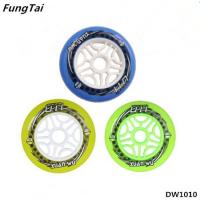 China Skates Wheel Roller Inline Skate Shoes Speed Skate Wheels 90mm 100mm 110mm Wheels Yellow Green Blue Colors (DW1010) on sale