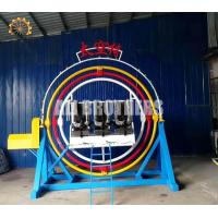 Quality Rotating Human Gyroscope Ride , Theme Park Thrilling 3d Space Ring Ride wholesale